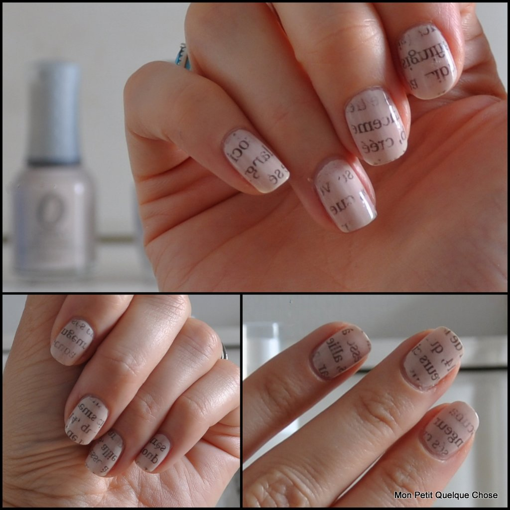 Mes vernis du moement #6, Orly, O.P.I, Sally Hansen, papier journal